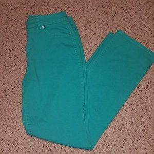 Bandolino Green Denim Jeans women's Missy Size 12